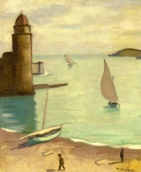 The Athenaeum - Fishing Boats Returning, Collioure (Albert Marquet - 1914)