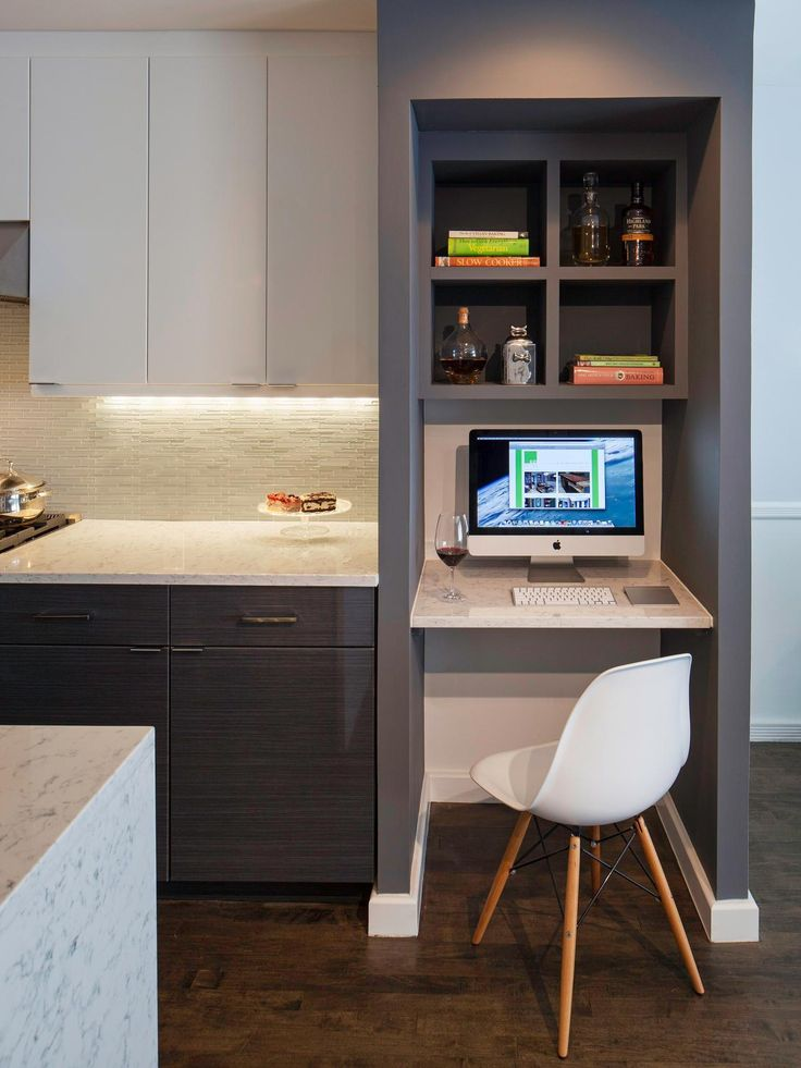 25 best ideas about computer nook on pinterest desk nook kitchen office and built in desk - Most popular ikea kitchen cabinets for more functional workspace ...