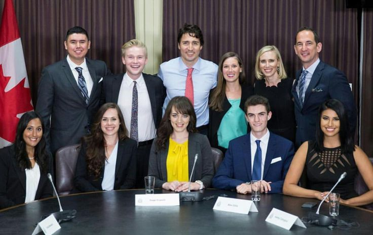 Canadian #youth delegates and Prime Minister Justin Trudeau  #canada #canadian #career #milestone #professional #youth #trudeau #politics #government
