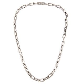 Shop for Stainless Steel Men's Oval-link Necklace and more for everyday discount prices at Overstock.com - Your Online Jewelry Store!