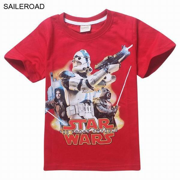 STAR WARS Children Boys T Shirts 3 To 13 Years