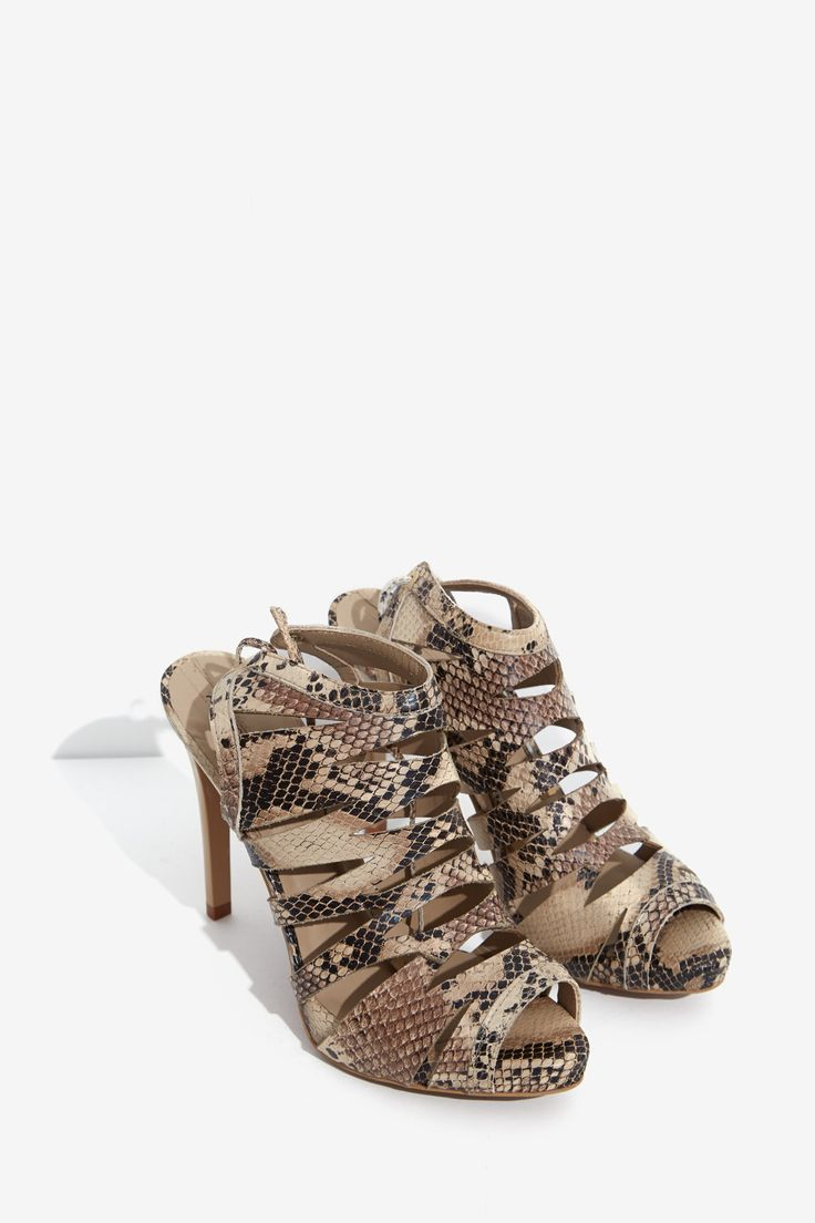 Adolfo Dominguez Python Heeled Sandals. Debuted May 2015