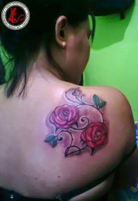 Flower Roses Tattoo - Shoko Tatto Studio
