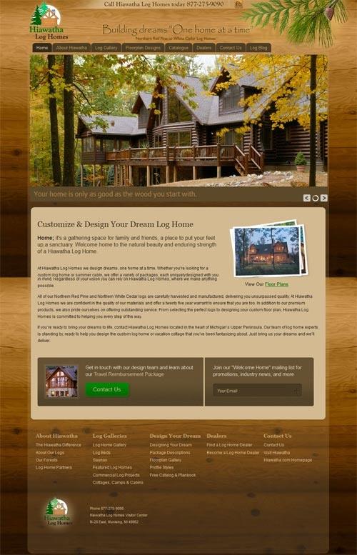 Jan 2011 Website built on Joomla framework. Log home builder in Upper Michigan. Hiawatha.com