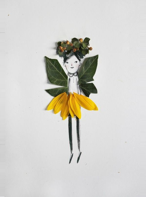 Nature paper dolls / Poupée de la nature