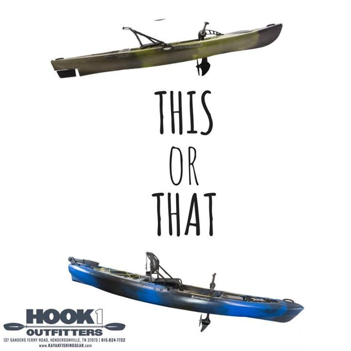 So what do you think? The Native Watercraft Manta Ray Propel Angler 12 or the Perception Kayaks Pescador Pilot 12.0? Tell us your thoughts. #ThisOrThat #HOOK1Outfitters #outdoors, #campinggear, #fishinggear, #ClimbingGear