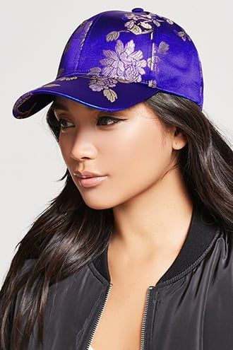 5c27318378 Satin Floral Baseball Cap   Products   Baseball Cap, Hats, Cap