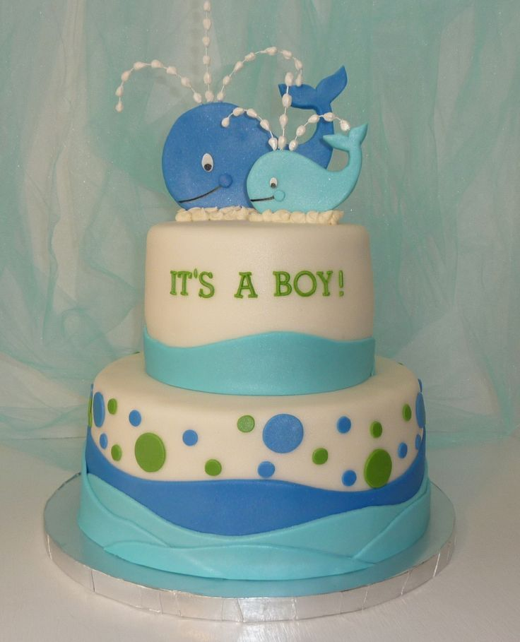 whales baby shower cake - Google Search