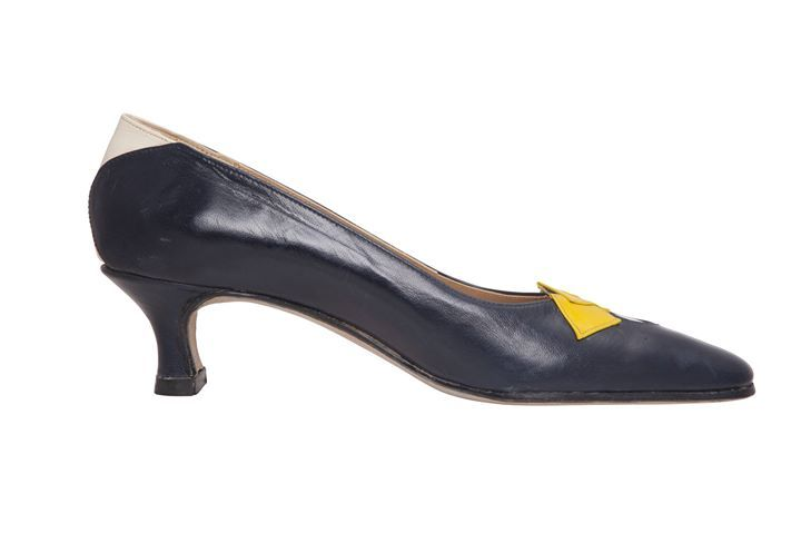 Fancy Pump  TO BUY: Comment with your email address and you'll receive a secure checkout link.  Price:  45000.   this model is made in dark blue kind yellow and white kid  the height of the heel is 5 cm  the insole and outsole are in pure natural leather  each pair of shoes is handmade in Rome Italy and it is unique  delivery is included in the price  pictures by www.th4image.com  Comment #subscribe  your email address to subscribe to instant updates via email when we post new products…