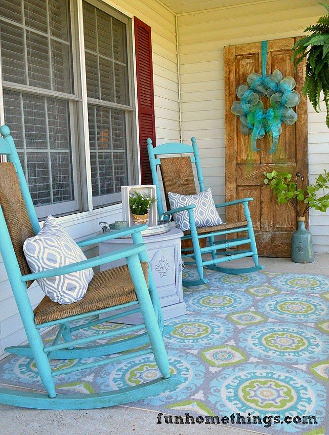 I've posted about my yard sale Cracker Barrel rocking chairs before in 3 different posts, but I have never shown you the entire  beginning to end transformation of these beautiful chairs. Whe…