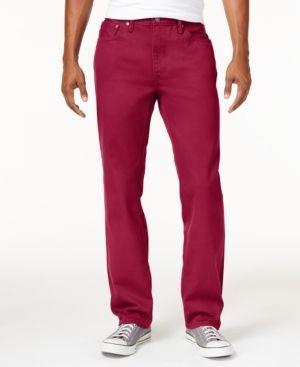 Levi's 541 Athletic Fit Rigid Twill Pants - Red 35x36