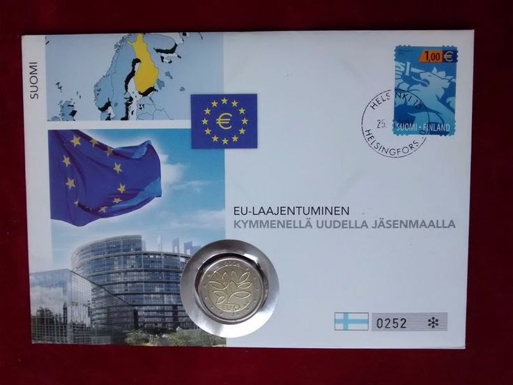 2 euro Finland 2004 EU Enlargement (Philatelic numismatic cover) BU (#2309)