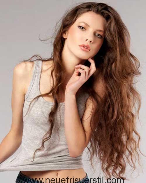 Lange Frisur Mit Natürlichen Welliges Haar 2018 Frisuren Pinterest