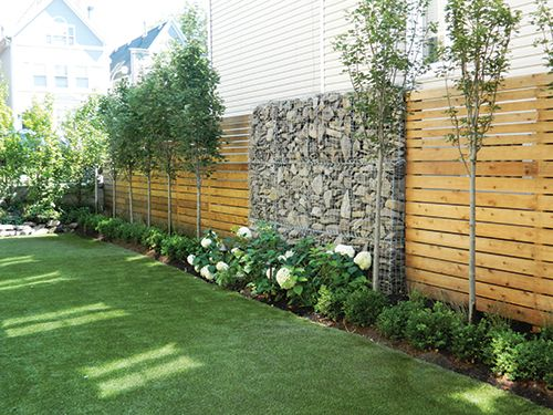 Fence Line Landscaping Rubber Mulch Helps It To Be Maintenance Free
