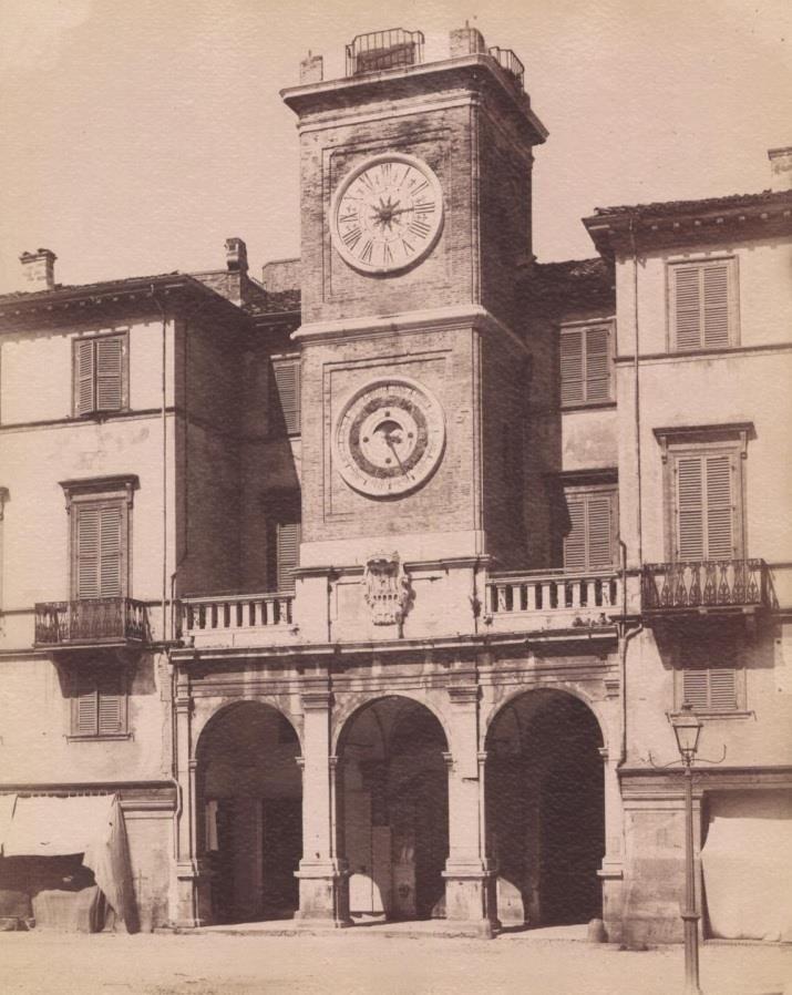 Piazza G. Cesare, torre dell'Orologio, fine '800, Rimini  www.hotelpolo.it