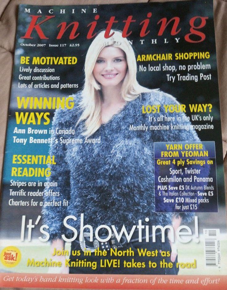 Machine Knitting Monthly magazine October 2007 Issue 117