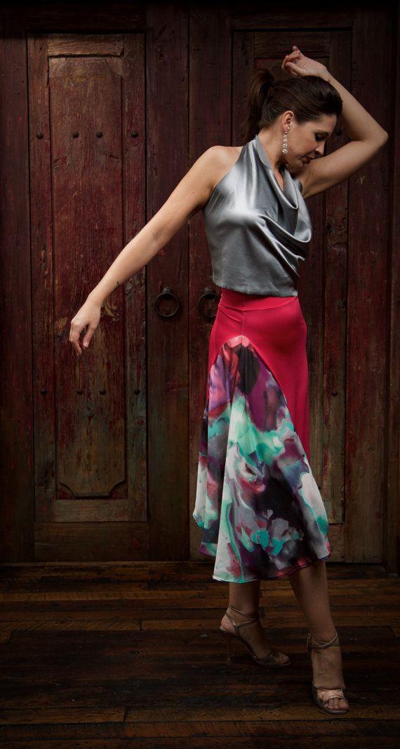 Spring dream asymmetric skirt. Tango Dress. by AtelierVertex