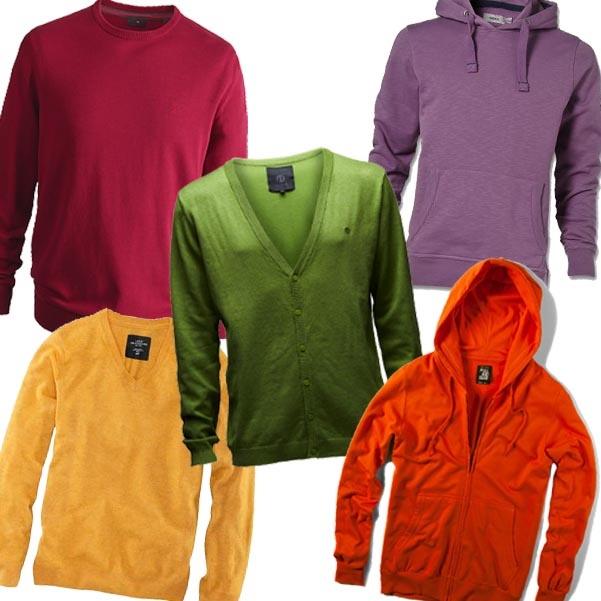 Különböző árnyalatú férfi pulóverek az őszi-téli szezonra