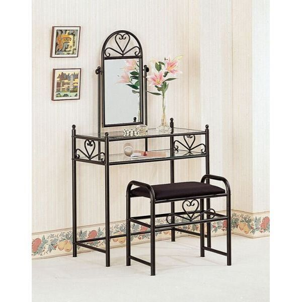 Two Piece Vanity Set, Black *D by Coaster Company Of America is now available at American Furniture Warehouse. Shop our great selection and save!