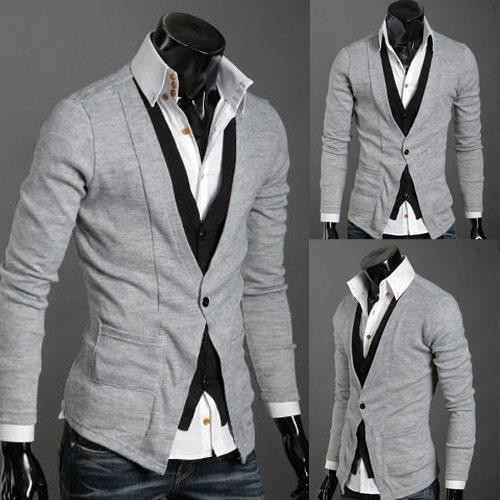 Slim Fit New V Neck Knitted Cardigan... Slick I must say...