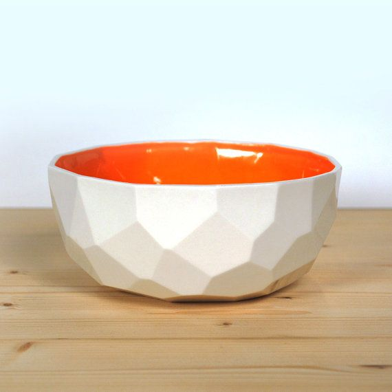 Modern porcelain breakfast bowl  soup bowl by studioLORIER on Etsy, €19.50