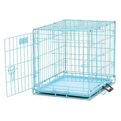 kennels metal midwest homes for pets icrate fashion edition pet crate blue