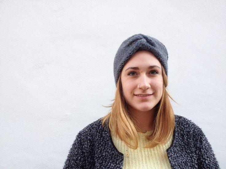 Fascia turbante per capelli in pura lana e alpaca | Fascia paraorecchie stile turbante interamente fatta a mano di dolcedormireknitwear su Etsy