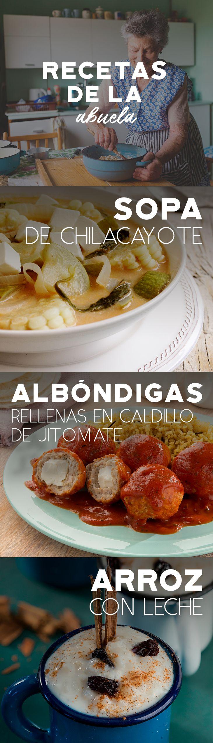 Las recetas de tu abuela son las mejores, prepara estos platillos que sin duda te recordarán su deliciosa sazón.   #recetas #receta #quesophiladelphia #philadelphia #crema #quesocrema #queso #comida #cocinar #cocinamexicana #recetasfáciles #abuela #cocina #arroz #arrozconleche #albóndigas #sopa #sopas #chilacayote