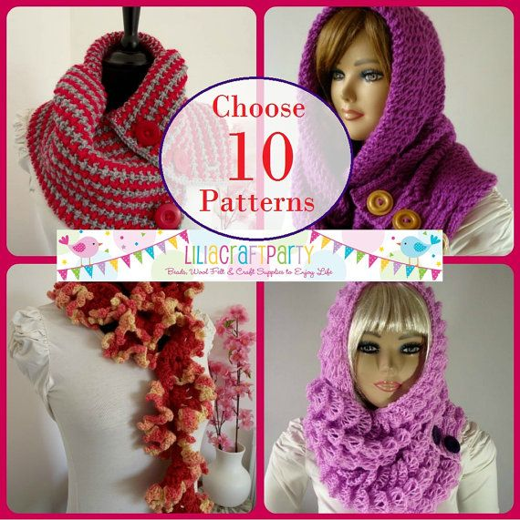PATTERN DISCOUNT  CHOOSE 10  Knitting & Crochet by LiliaCraftParty
