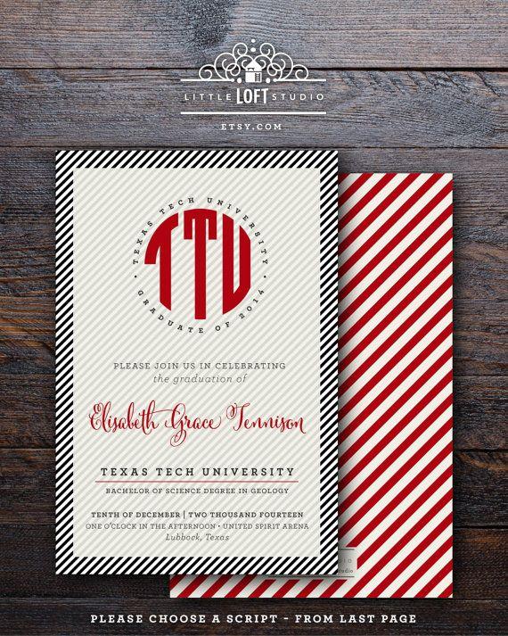 8 best Texas Tech Graduation Announcements images on Pinterest