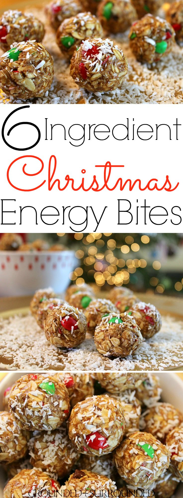"""The BEST 6 Ingredient Christmas Energy Bites 