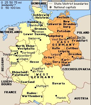 New I visited much of West Germany when Germany was still divided into different countries