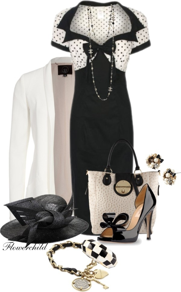 """""""Black and White Day Fashion"""" by flowerchild805 ❤ liked on Polyvore"""