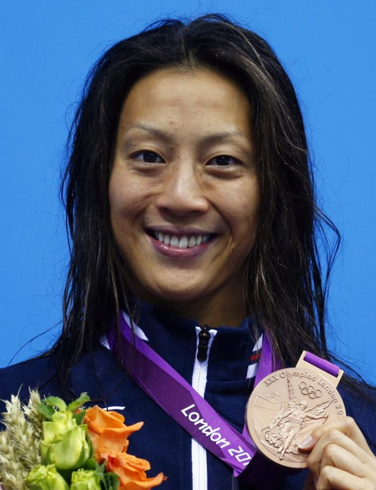 寺川が58秒83の日本新記録で銅メダル獲得