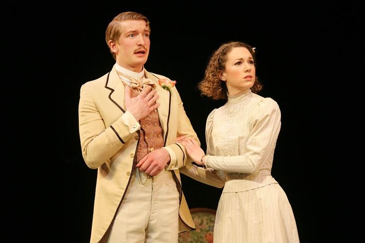 Harry Livingstone as Algernon Moncrieff, Felicity Houlbrooke as Cecily Cardew