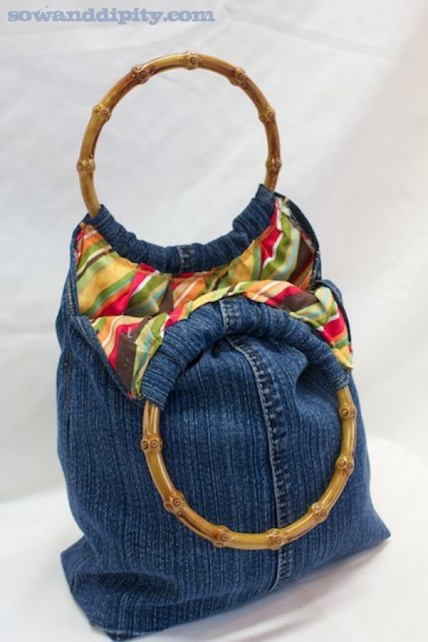 5 Recycled Blue Jean Projects -