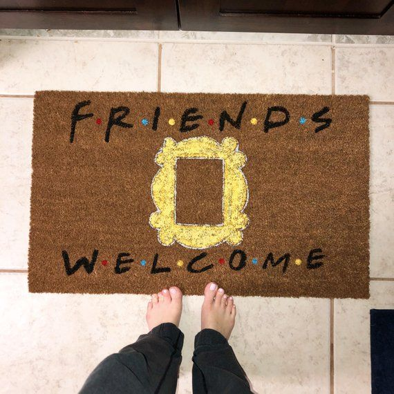 F R I E N D S Doormat Friends Tv Show Gifts Welcome Mat Etsy In 2020 Friends Tv Show Gifts Friends Tv Show Friends Tv