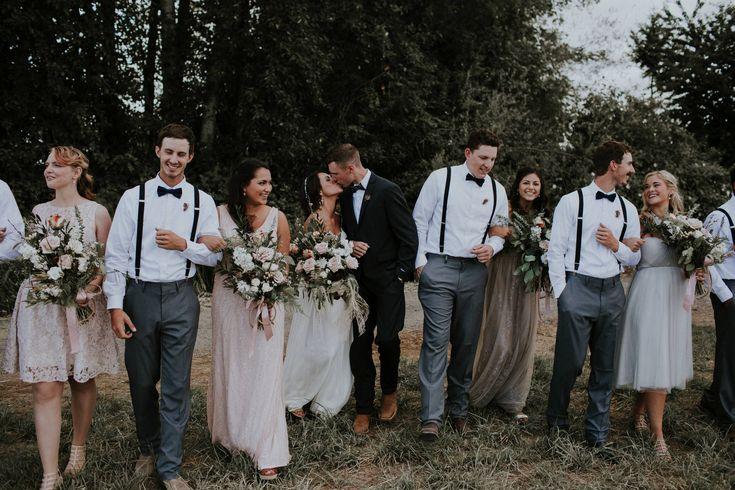 Boho bridal party style