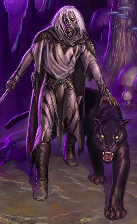 Drizzt! a very special moral dark elf and the most bad-A fighter! He is amazing! Thank you R.A. Salvatore.