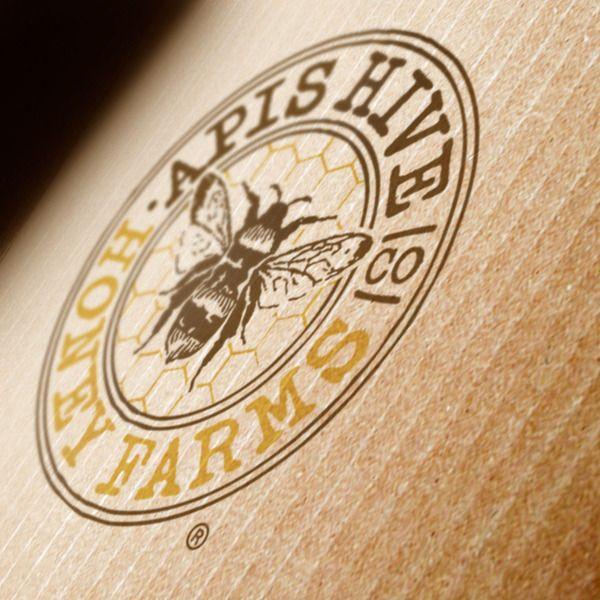 BRANDING :: Apis Hive Honey by Rod Burkholz, via Behance