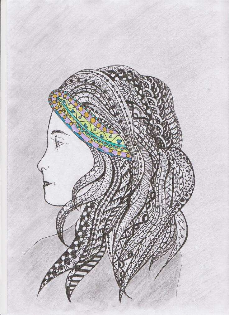 lány hajpánttal