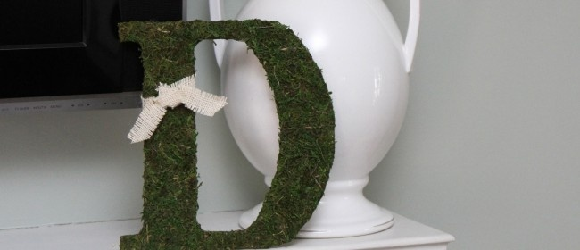 Moss Covered Letter DYI: Dollar Tree