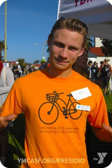 "Who's making it a great year for biking in San Francisco? ""This Guy!""  -Bike to Work Day, May 10, 2012"