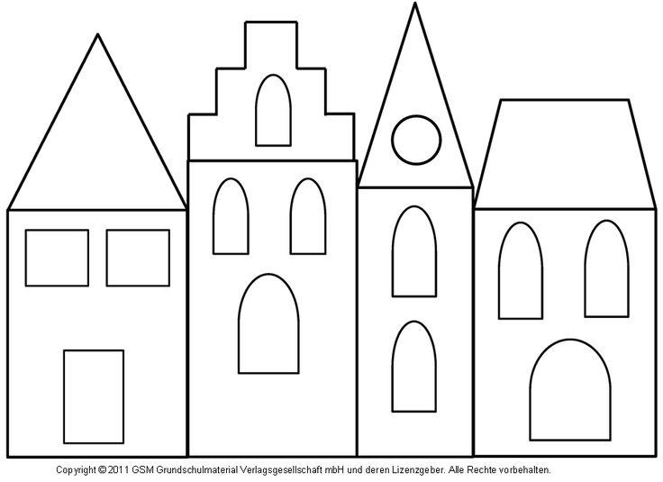 Fensterbild: Häuser mit Transparentpapier 3 - Medienwerkstatt-Wissen © 2006-2008 Medienwerkstatt