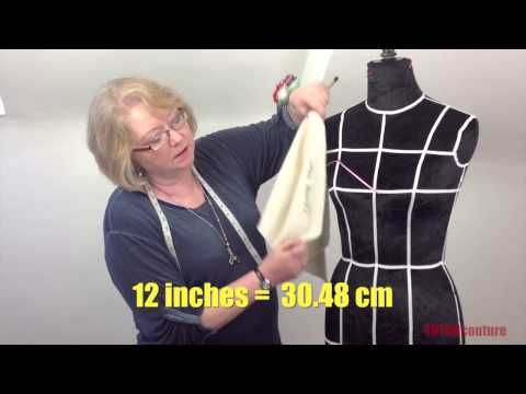 How To Drape A Sweetheart Strapless Bodice (Professional Version) - YouTube