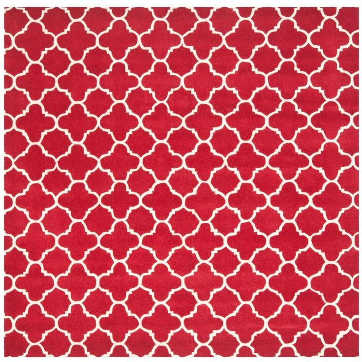 Chatham Red/Ivory 8 ft. 9 in. x 8 ft. 9 in. Square Area Rug