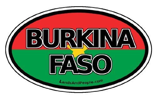 Burkina Faso Flag West Africa State Car Bumper Sticker Decal Oval -- You can get more details by clicking on the image.Note:It is affiliate link to Amazon.
