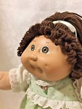 Vintage Coleco Cabbage Patch Kid With Adoption Papers Long Brown Hair Brown Eyes