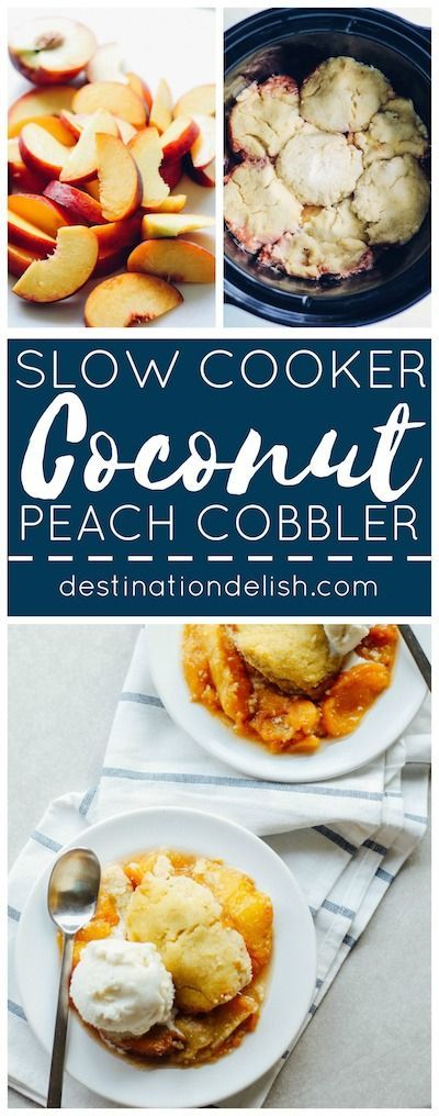 ... peach cobbler yielding a cake-like texture with a warm peach compote