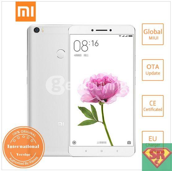 Xiaomi Mi Max 6.44 Inch FHD MIUI V7.5 64bit Qualcomm Snapdragon 650 Smartphone Hexa Core 3GB 32GB 5.0MP 16.0MP TOUCH ID 4850mAh Battery IR Remote Control - Silver